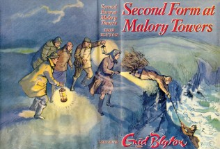 Second Form at Malory Towers dust jacket 1957 reprint by Lilian Buchanan