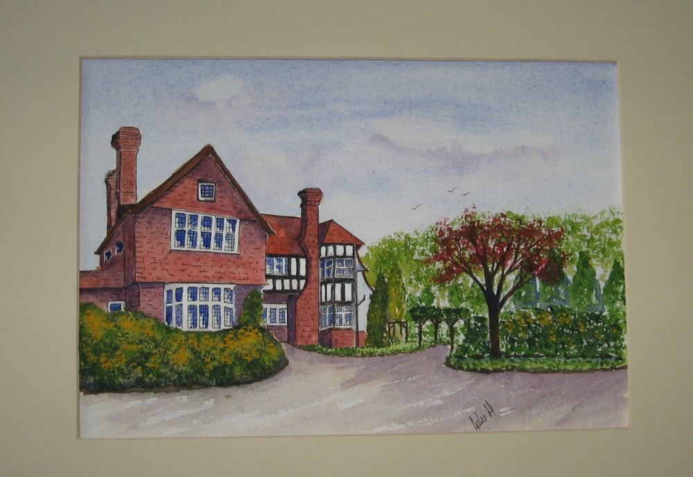 Green Hedges – The inspiration for my watercolour (2/4)
