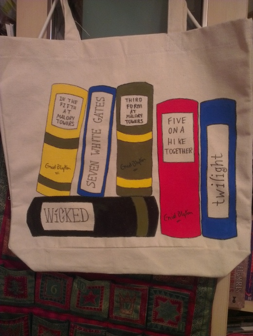 My Wonderful Fiona Crafted Book bag!