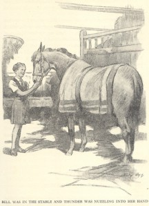 Bill and her horse Thunder. Illustrated by Stanley Lloyd