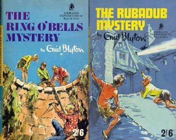 "Armada paperbacks of ""Ring o' Bells Mystery"" and ""The Rubadub Mystery"" with covers by Mary Gernat"