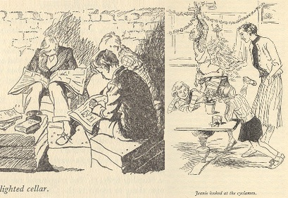 """Images from """"The Six bad Boys"""" illustrated by Mary Gernat"""