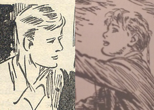 (L-R) Julian Kirrin (drawn by Eileen Soper) & David Morton (drawn by Bertram Prance)