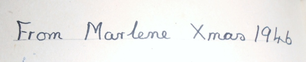 The inscription at the front of the book.