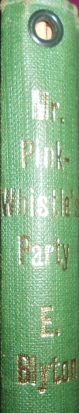 Book spine with the borrower's tag hole