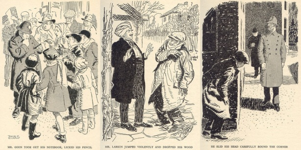 "Images from ""The Mystery of Tally-Ho Cottage"" illustrated by Treyer Evans"
