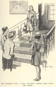 Zerelda's entrance. Illustrated by Stanley Lloyd