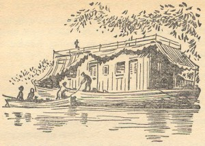 At the houseboat illustrated by Gilbert Dunlop