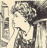 Mrs Mannering/Cunningham, aka Aunt Allie of the Adventure Series, drawn by Stuart Tresilian