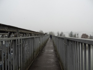 The view across the bridge.