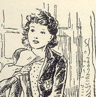Lucy-Ann Trent of the Adventure Series, drawn by Stuart Tresilian