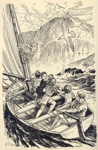 Bill teaches the children to sail, by Stuart Tresilian