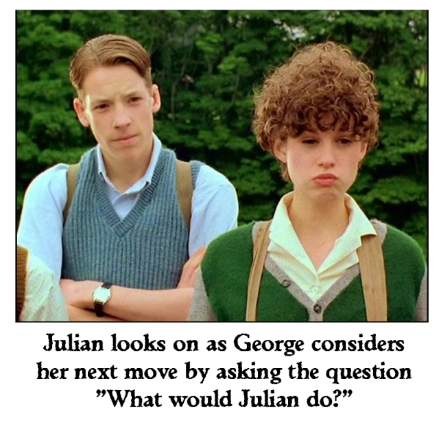 What Would Julian Do? Julian and George portrayed by Marco Williamson and Jemima Rooper