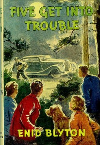 Five get into Trouble, first edition dustjacket. Illustrated by Eileen Soper.