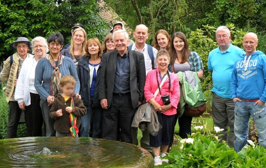 Corinna (Back Row 4th from the right) with the other Members of the Enid Blyton Society in 2011 during their outing to Old Thatch in Buckinghamshire.