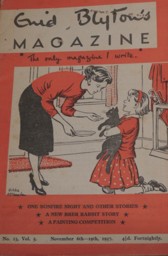 My first ever Enid Blyton Magazine. No. 23, Vol. 5. November 6th- 19th 1957.