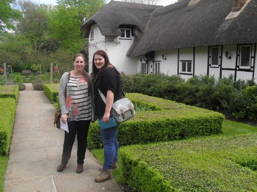 Fiona and Stef outside Old Thatch, May 2012
