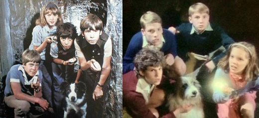 The 1970's Promo shoot on the Left and the 1990's Title screen on the Right.