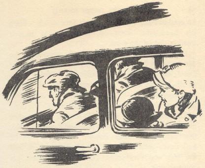 In the stolen car