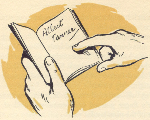 The notebook containing the clue, Albert Tanner by Bruno Kay.