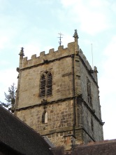 Church Stretton's church tower.