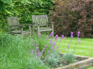 Somewhere nice to sit in Mr Aplin's garden (a bowling green in Blyton's day)