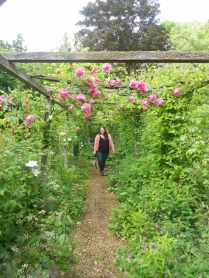 Stef in the rose pergola