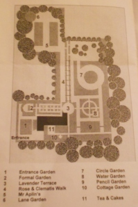 A map of the gardens