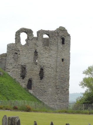 The ruins of Clun Castle.