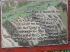 The plaque to go with the model