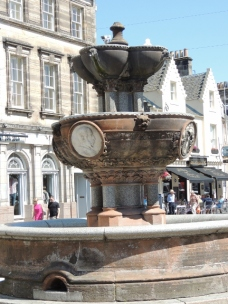 The fountain on Market Street by