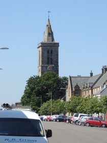 St Salvator's Chapel Tower as seen from the top of North Street