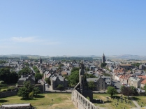 The view from the top of St Rules Tower, overlooking the town