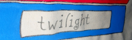 Twilight done in a twilighty font