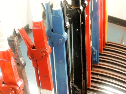 Track changing levers at Kinloch Rannoch station