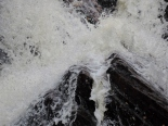 Close up of the Kinloch Rannoch Waterfall