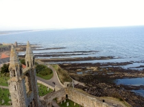 View from the top of St Rule's Tower