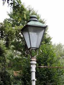 The Funny Old Lamppost in the Entrance Garden by Stephanie Woods