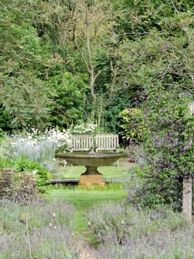 The view to the water garden from the formal garden