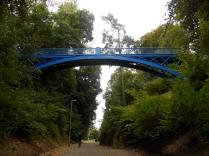 1870s bridge in Balgay Park (with my other half standing underneath!)