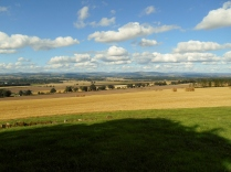 The view of Perthshire from near Newtyle