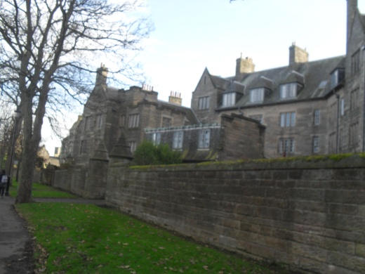 The back of St Salvator's Halls in St Andrews. Photo by Stephanie Woods 2012