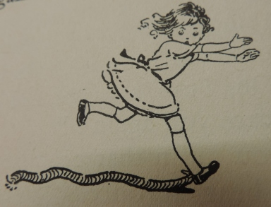 Amelia Jane being chased by the 'snake'