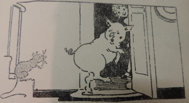 The (rather life-like pig) in the doll's house
