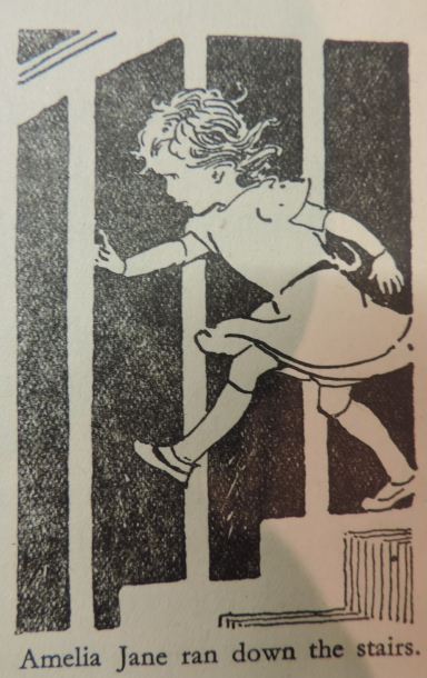 Amelia Jane rushes downstairs