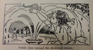 Amelia Jane rescuing the clockwork mouse