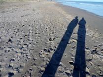 Shadows on Tentsmuir beach