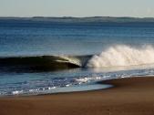 Waves on Tentsmuir beach