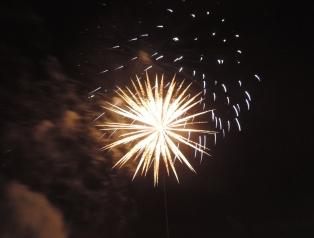 Fireworks at Balgay park