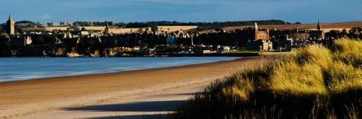 St Andrews West Sands, photo from the St Andrews University website